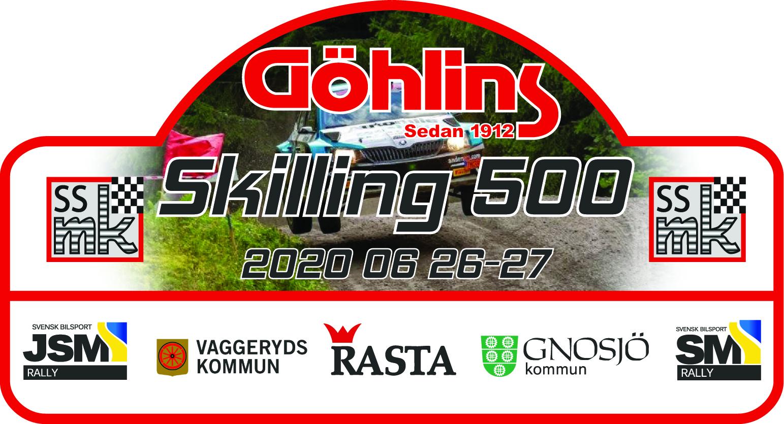 Göhlins blir huvudsponsor för SM-rallyt Skilling 500